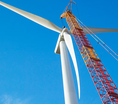 Wind Turbine in construction